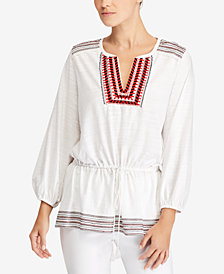 Lauren Ralph Lauren Embroidered Cotton Blouse