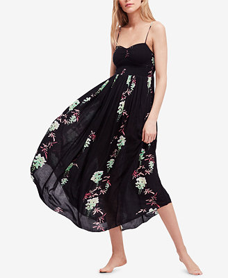 Beau Smocked Printed Midi Dress by Free People