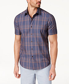 Tasso Elba Men's Foulard Plaid Shirt, Created for Macy's