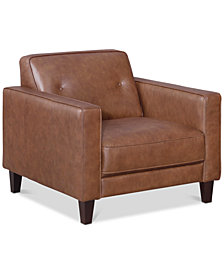 """Montrose 36"""" Leather Armchair, Created for Macy's"""