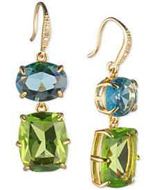 Carolee Gold-Tone Stone Double Drop Earrings