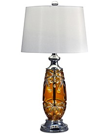 Glossy Amber Table Lamp