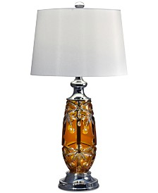 Dale Tiffany Glossy Amber Table Lamp
