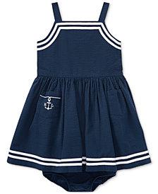 Ralph Lauren Cotton Seersucker Dress, Baby Girls