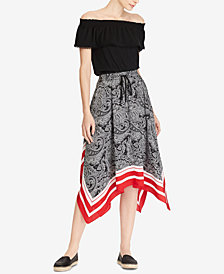 Lauren Ralph Lauren Petite Off-The-Shoulder Top & Printed Skirt