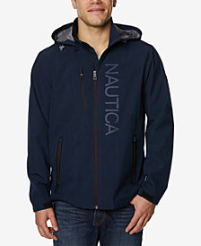 Nautica Men's Logo-Print Full-Zip Hooded Windslicker
