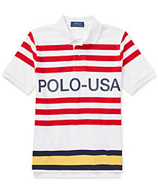 Ralph Lauren Big Boys CP-93 Striped Cotton Polo Shirt