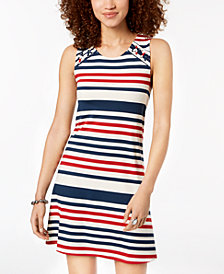 Heart and Soul Juniors' Striped Tank Dress