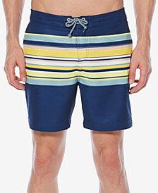 "Original Penguin Men's Engineered Striped Stretch 6"" Swim Trunks"