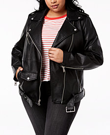 Levi's® Plus Size Faux-Leather Moto Jacket