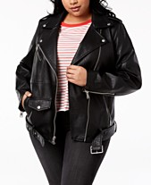 85cf4a40acd Faux Leather Women s Plus Size Jackets - Macy s
