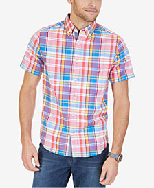 Nautica Men's Big & Tall Stretch Cotton Plaid Shirt