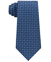 e5ce2e22f952 Calvin Klein Men's Clean Medallion Slim Silk Tie