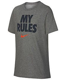 Nike Big Boys Rules-Print T-Shirt