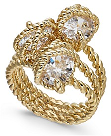 Stone Trio Rope Ring in Gold Plate, Created for Macy's