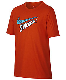 Nike Big Boys Swoosh-Print Cotton T-Shirt