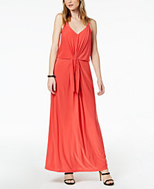 Bar III Tie-Waist Maxi Dress, Created for Macy's