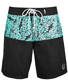 "Maui and Sons Men's Shark Tangle 19"" Board Shorts"