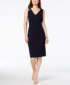 Ivanka Trump Grommet Sheath Dress
