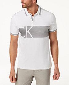 Calvin Klein Men's Striped Logo Polo