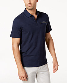 Calvin Klein Men's Zip-Pocket Polo
