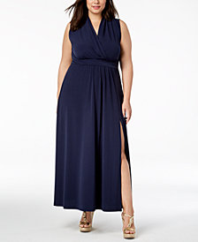 MICHAEL Michael Kors Plus Size Side-Slit Maxi Dress