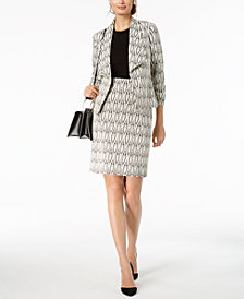 Kasper Printed Jacket & Pencil Skirt