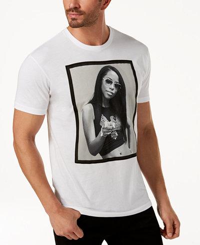 Sean John Men's Aaliyah White Party Graphic-Print T-Shirt