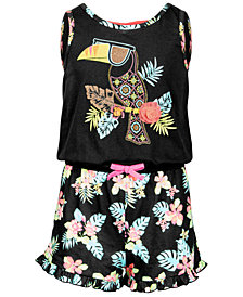Epic Threads Big Girls Crisscross-Back Romper, Created for Macy's