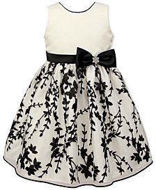Jayne Copeland Toddler Girls Embroidered Satin Dress