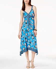 I.N.C. Handkerchief-Hem Cross-Back Dress, Created for Macy's