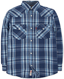 Levi's® Little Boys Plaid Cotton Flannel Shirt