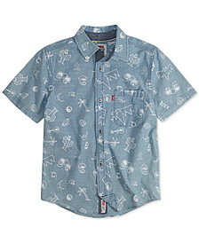 Levi's® Big Boys Printed Cotton Shirt