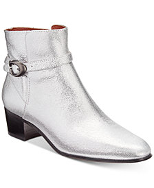 COACH Chrystie Signature Buckle Booties