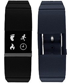 iFitness Pulse Men's Black & Navy Silicone Strap Smart Watch 20x18mm