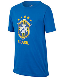 Nike Big Boys Brazil World Cup Graphic-Print Cotton T-Shirt