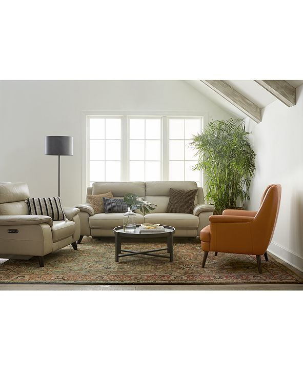 Furniture Milany Leather Power Reclining Sofa Collection, Created for Macy's