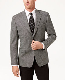Lauren Ralph Lauren Men's Slim-Fit Ultraflex Stretch Black/White Herringbone Wool Sport Coat