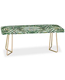 Deny Designs Marta Barragan Camarasa Exotic Leaves Bench