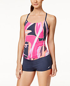 Nike Rule Beam Racerback Tankini Top & Swim Shorts