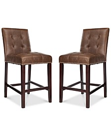 Ora Faux Leather Counter Stool (Set Of 2)