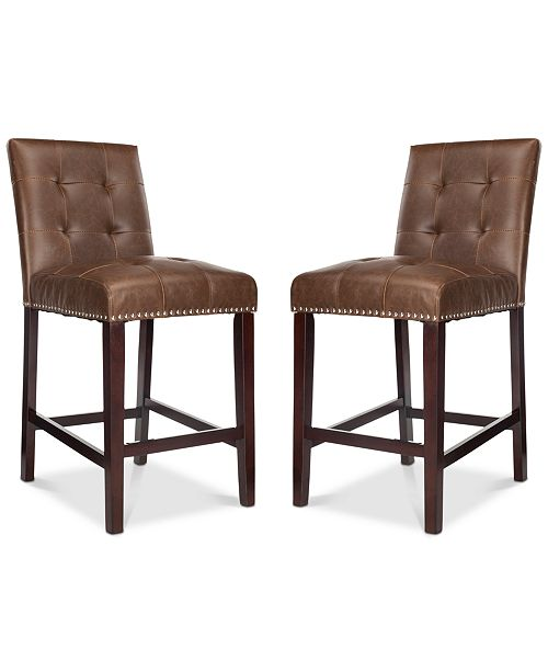 Safavieh Ora Faux Leather Counter Stool (Set Of 2)