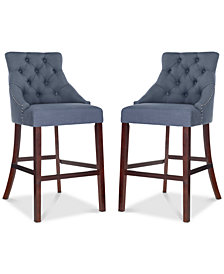 Folino Navy Bar Stool (Set Of 2), Quick Ship