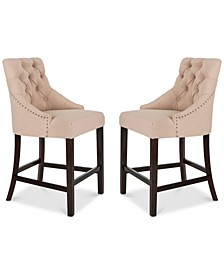 Folino Fabric Counter Stool (Set of 2)