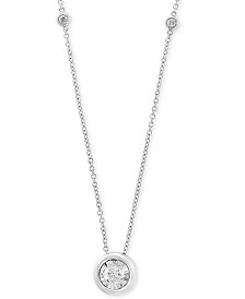 "Bubbles by EFFY® Diamond Bezel 18"" Pendant Necklace (1/2 ct. t.w.) in 14k White, Yellow or Rose Gold"
