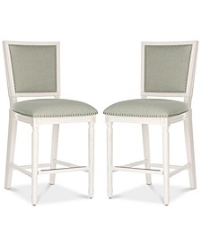 Evina Counter Stool with Nail Head Trim (Set Of 2)