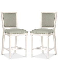 Evina Counter Stool with Nail Head Trim (Set Of 2), Quick Ship