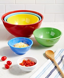 Martha Stewart Collection Set of 6 Melamine Mixing Bowls, Created for Macy's