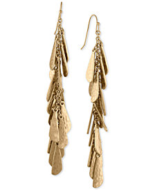 RACHEL Rachel Roy Gold-Tone Shaky Charm Linear Drop Earrings