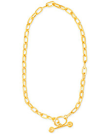 "Steve Madden Gold-Tone Open-Link Chain 16"" Toggle Necklace"